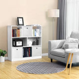 White Free Standing Bookcase