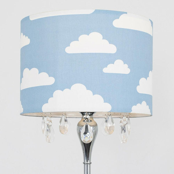 Large Shade Chrome Floor Lamp