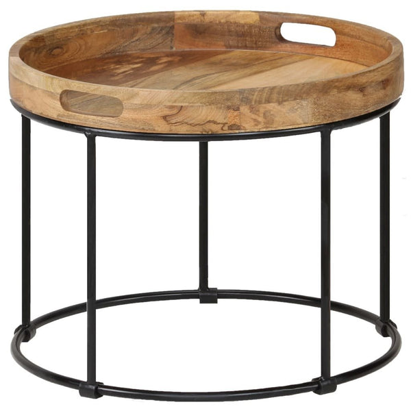 Mange Wood & Steel Coffee Table