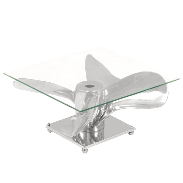 Silver Propeller Coffee Table