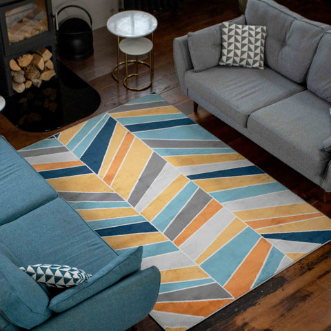 Blue/yellow Copenhagen Rug
