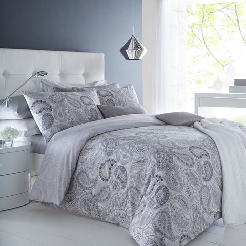 Grey Droplet Duvet Set