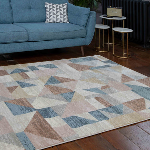 Geo Blue/brown New-York Rug