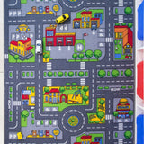 Children Play Village Road Rug