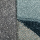 Denim Blue Arrow Thick Rug