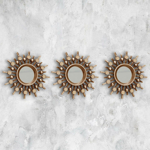 3pc Moroccan Mirror Set