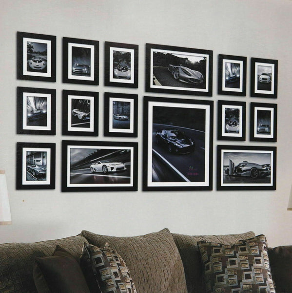 15pc Photo Frame Wall Display