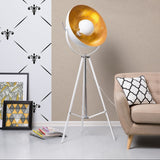 White & Gold Studio Floor Lamp