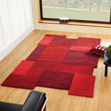 Red Abstract Collage Rug