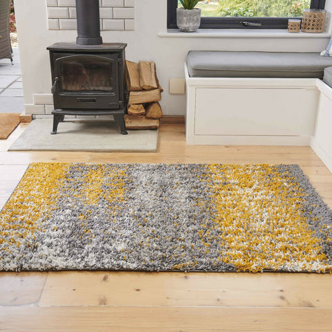 Yellow & Grey Ombre Rug
