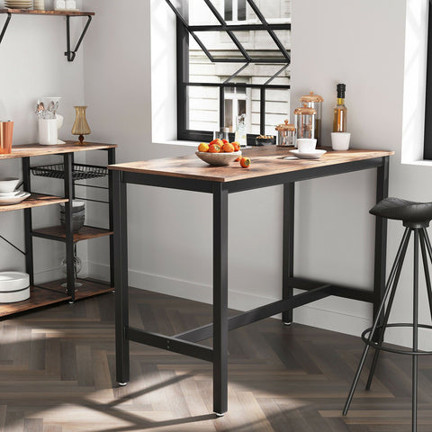 Rustic Brown Industrial Kitchen Table