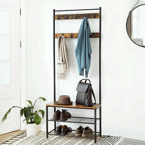 Rustic Coat & Shoe Rack