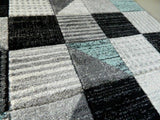 Duck Egg & Silver Spotty Squared Rug