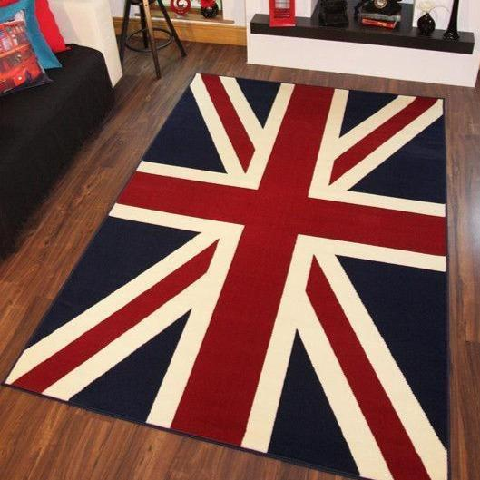 Red Union Jack Flag Rug