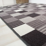 Black & Grey Oyo Runner Rug