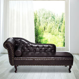 Vintage Leather Chaise Longue