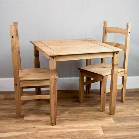 Solid Pine Wood Dining Room Set