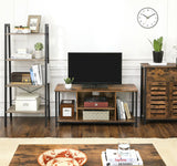 Rustic Brown Industrial TV Stand Cabinet