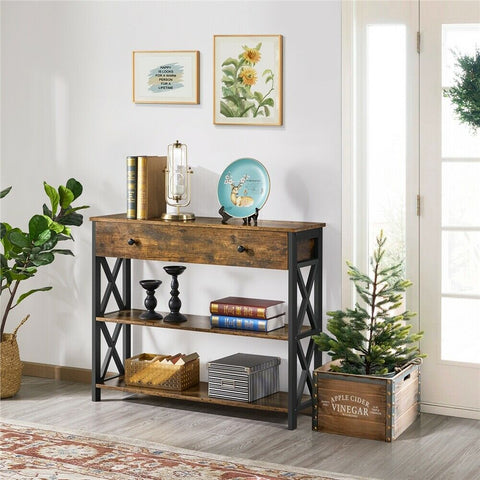 Industrial Oxford Console Table