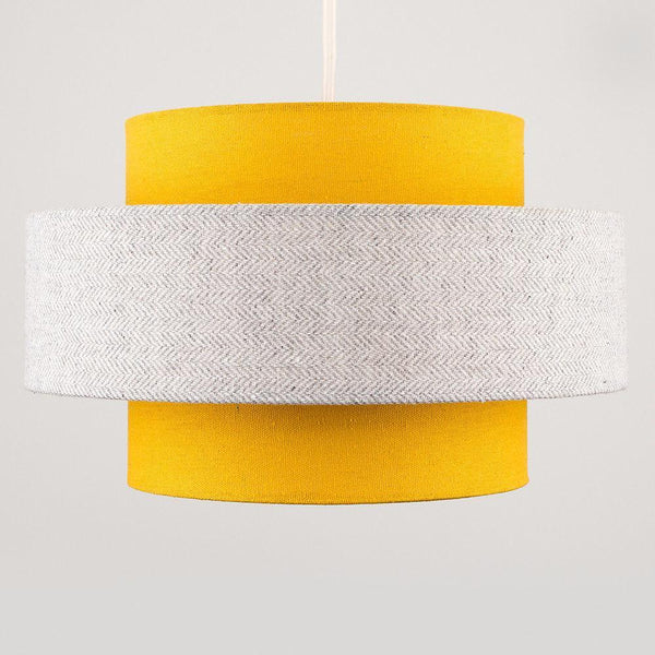 2 Tier Fabric Light Shade