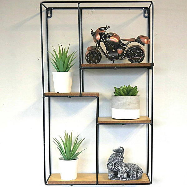 Modern Industrial Style Metal Wall Shelves