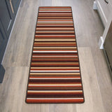 Terracotta Striped Runner Rug