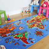 Childrens World Map Rug
