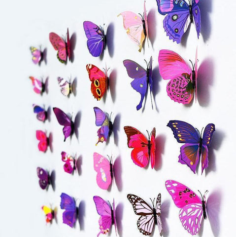 3D Colourful Butterfly Wall Art