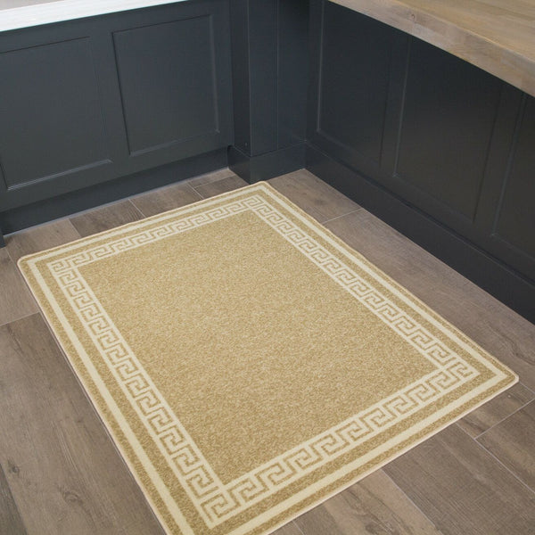 Sand Beige Greek Border Rug