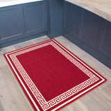Red Greek Border Rug