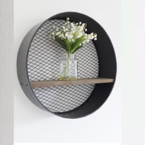 Circular Industrial Mesh Shelf