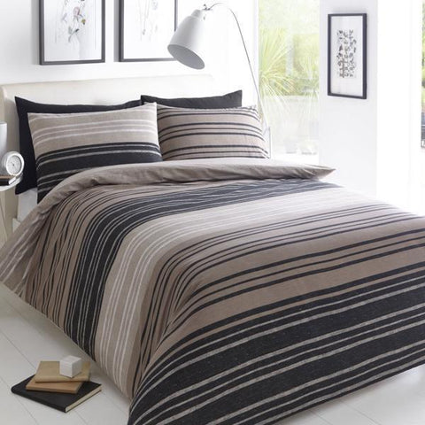 Brown Striped Duvet