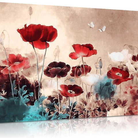 Floral Poppy Canvas
