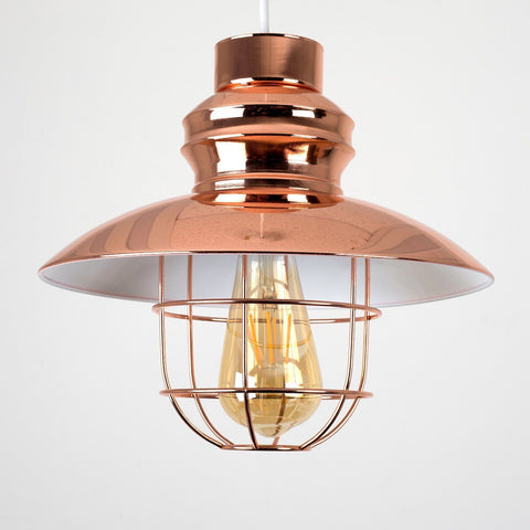 Copper Caged Light Shade