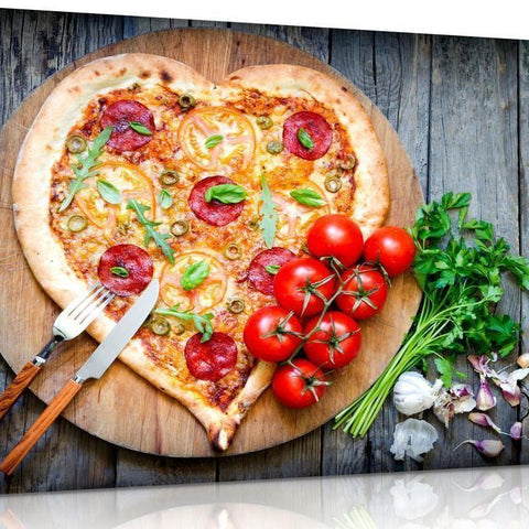 Pizza Heart Canvas