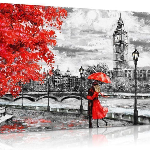 Mono London Oil Effect Canvas