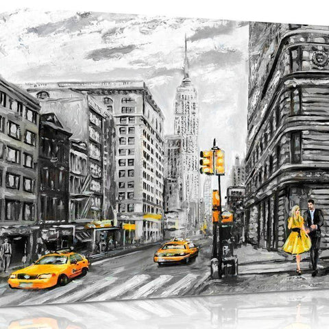 Mono New York Oil Effect Canvas