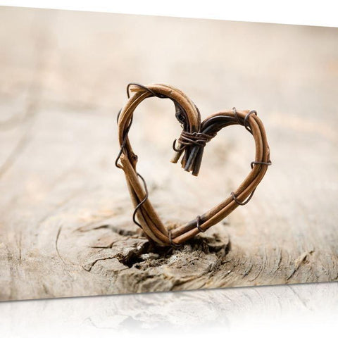 Rustic Heart Canvas