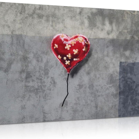 Bandaged Heart Canvas