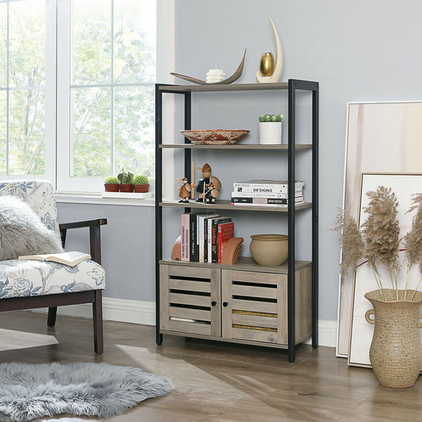 Grey Industrial Cabinet with 3 Shelves