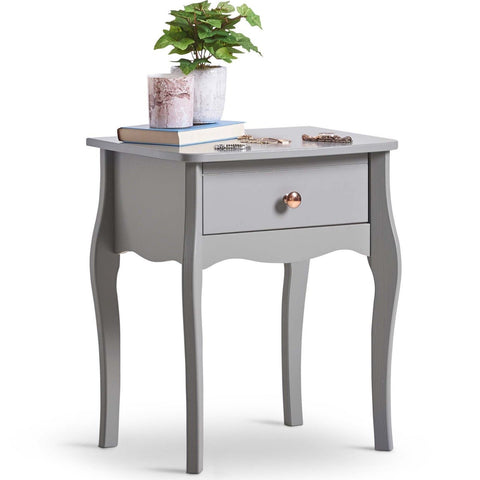 1 Drawer Grey Side Table
