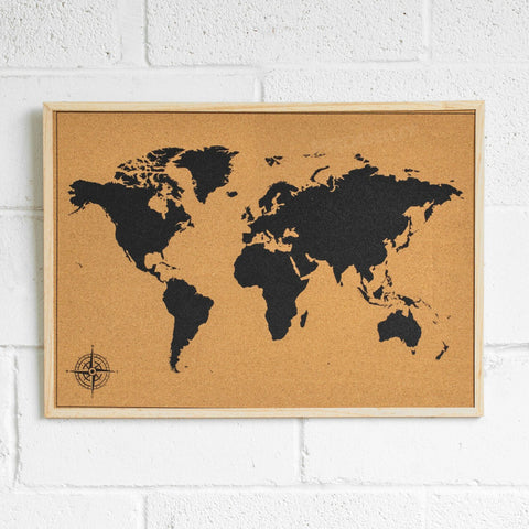 Large Cork World Map
