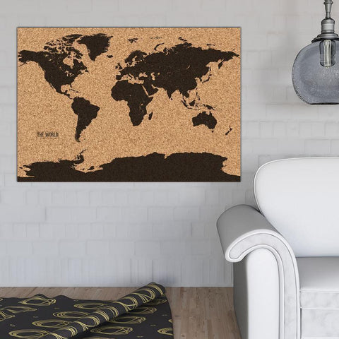 Cork Pin Board Map