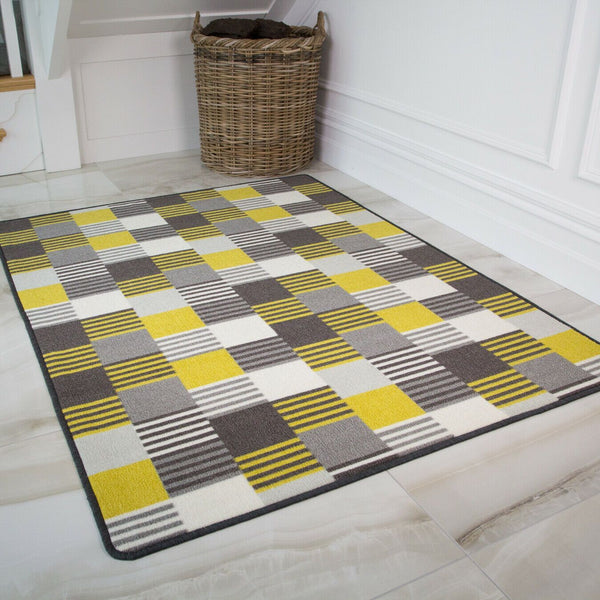 Yellow & White Oyo Rug - 80cm x 150cm