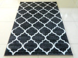 Charcoal Silver Moroccan Rug