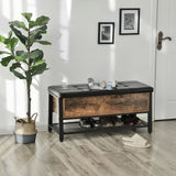 Industrial Padded Seat Storage Bench