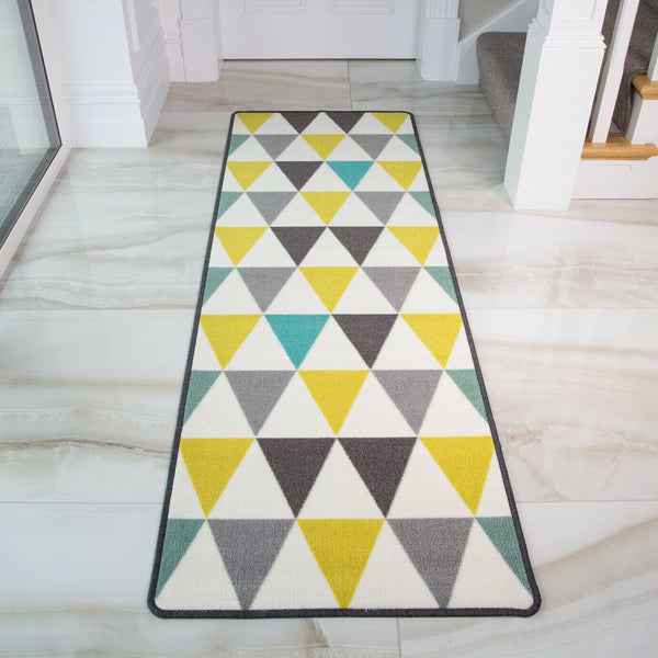 Teal Oxford Diamonds Rug