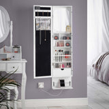 White Wall Mounted/Door Hanging LED Armoire