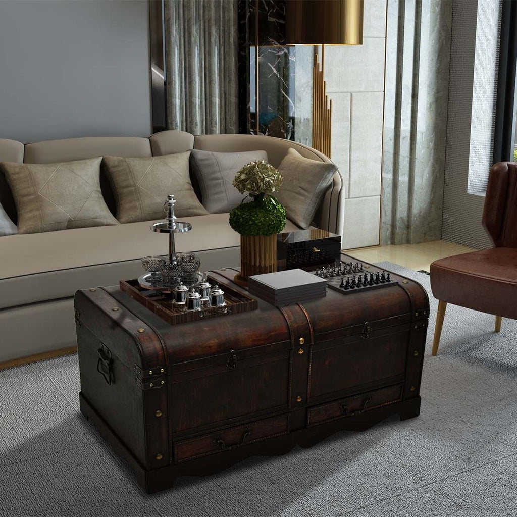 Wooden Chest Coffee Table Novielo London