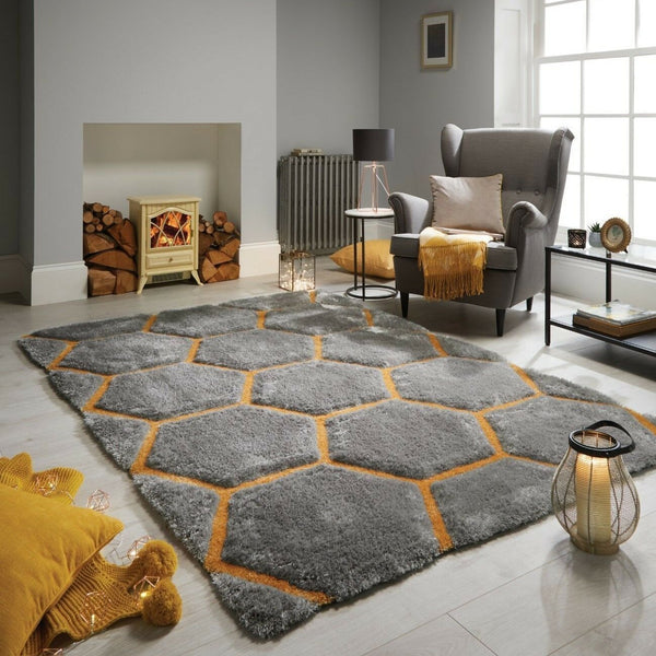 Honeycomb Shaggy Rug